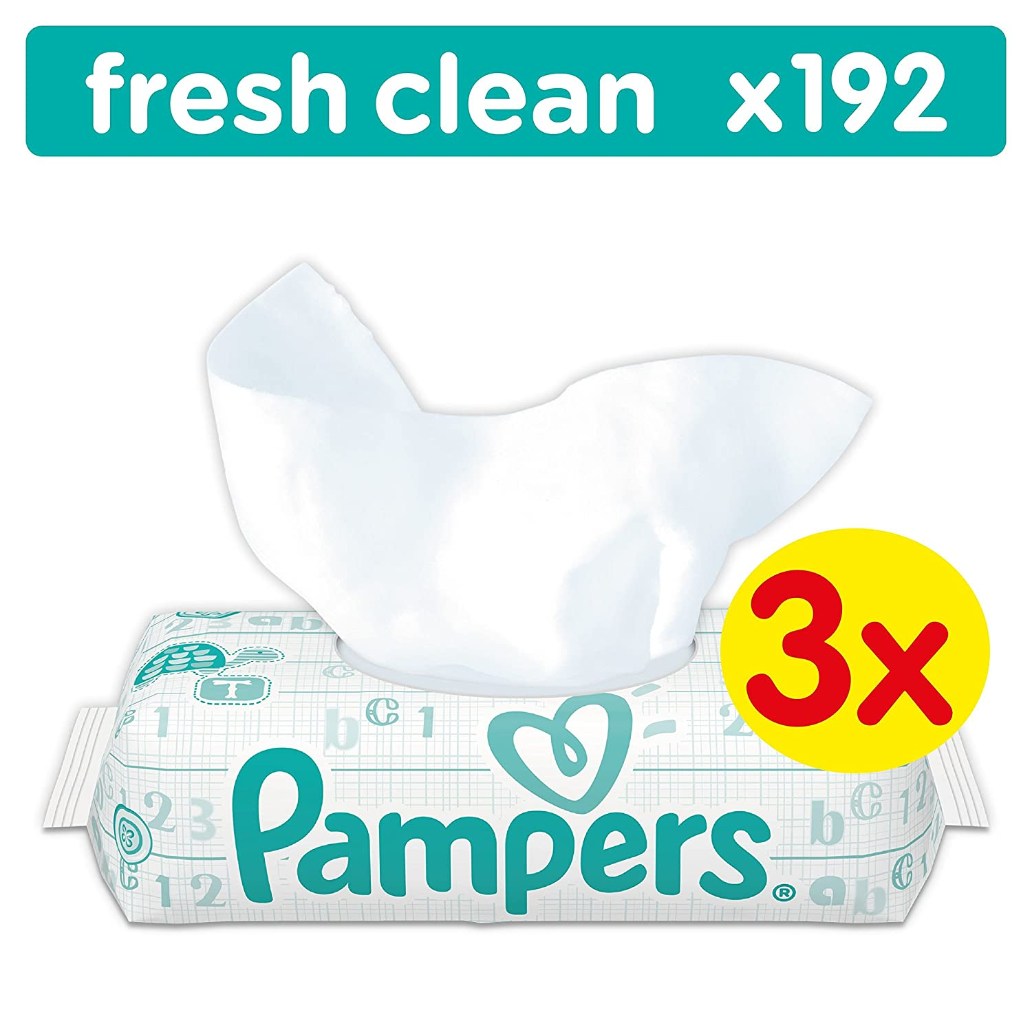 3 x 3 x 64 St/ück Pampers Fresh Clean Feuchtt/ücher 3er Pack