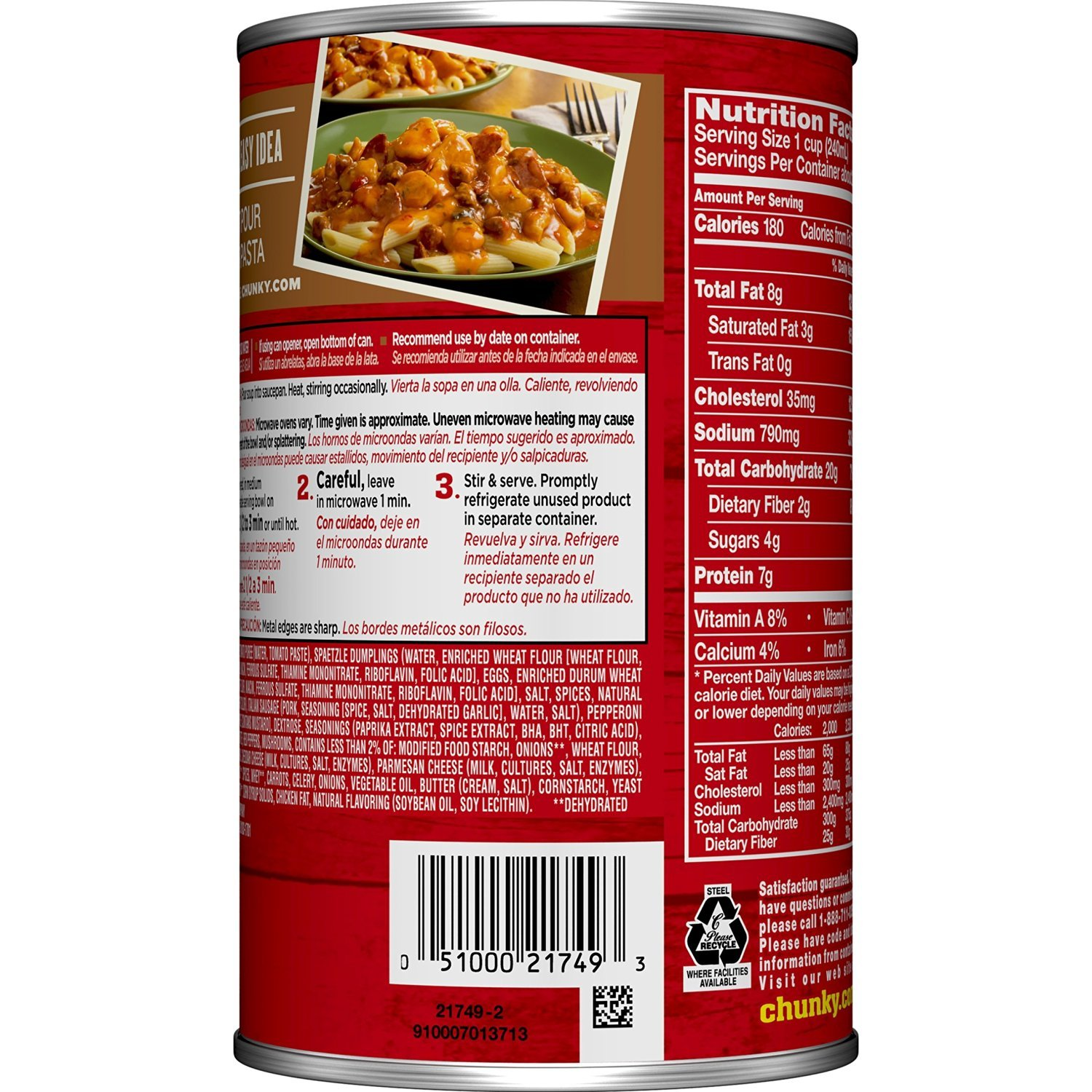 Amazon.com : Campbells Chunky Soup, Hearty Pizza with ...
