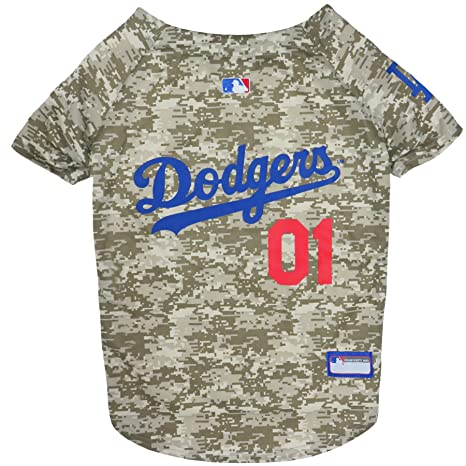 3794e9491d4 Amazon.com   MLB Camo Jersey for Dogs - LA Dodgers Hunting Jersey ...