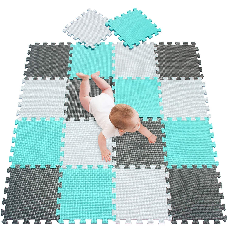 6PCS 5.81 SQ FT Eva Foam Puzzle Exercise Play Mat Interlocking Floor Soft Tiles