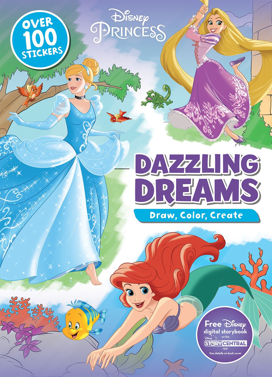 Read Online Disney Princess Dazzling Dreams (Draw, Color, Create) PDF