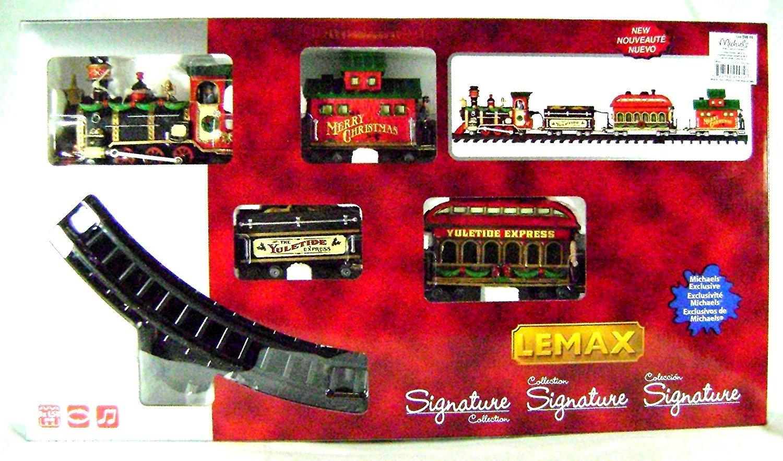 Lemax - Yuletide Express - Eisenbahn mit Soundeffekt - 16 teiliges Set - Christmas Village - Weihnachtswelt 24472