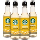 Starbucks Naturally Flavored Coffee Syrup, Vanilla, Pack of 4