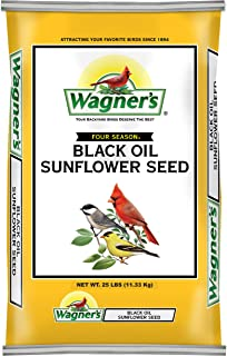 product image for Wagner's 76027 Black Oil Sunflower Wild Bird Food, 25-Pound Bag, Yellow