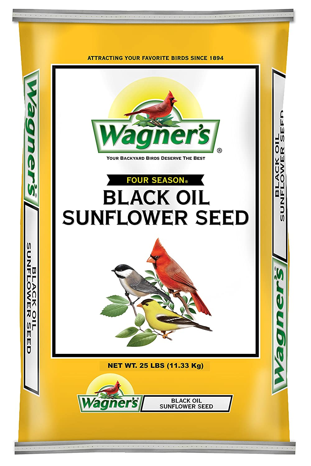 Wagner's 76027 Black Oil Sunflower, 25-Pound Bag