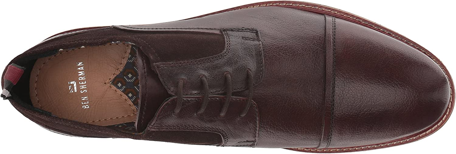 Ben Sherman Mens Birk Cap Toe Oxford