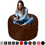 AmazonBasics Memory Foam Filled Bean Bag Chair with Microfiber Cover - 3', Espresso