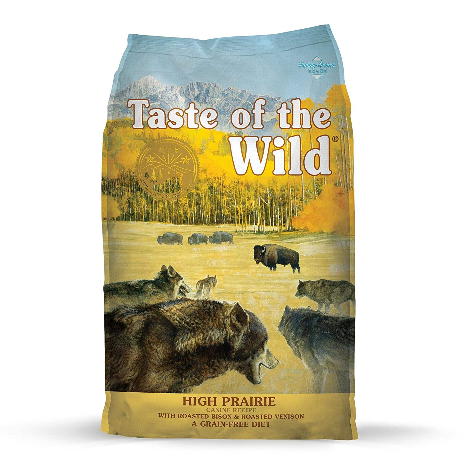 4. Taste of the Wild High Prairie Grain-Free Dry Dog Food