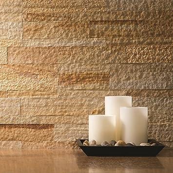 Aspect Peel And Stick Stone Overlay Kitchen Backsplash Golden Sandstone 5 9 Quot X 23 6 Quot