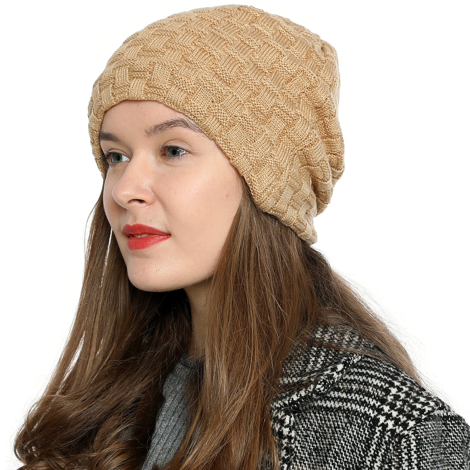 DonDon Women's Winter Beanie Slouch Style With Very Soft and Comfortable To Wear Inner Lining - Various Colours MUE30