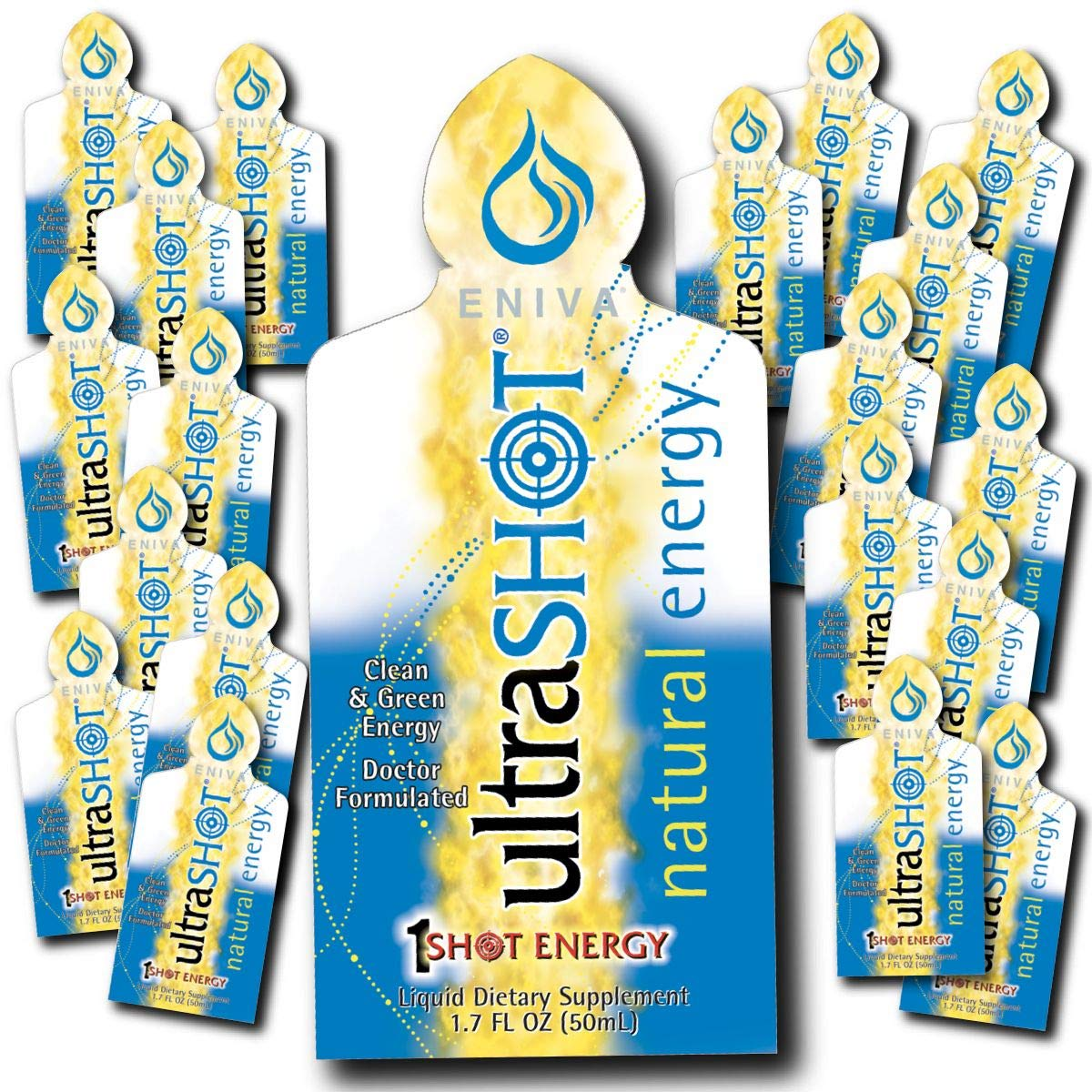Coffee Replacement | Coffee Alternative | Ultrashot Healthy Energy by Eniva | Dr. Formulated (20 on-The-go Packets per Box)