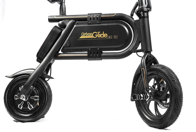 Urban Glide E-Bike 100 Negro, Oro Aluminio Litio 12,7 kg ...