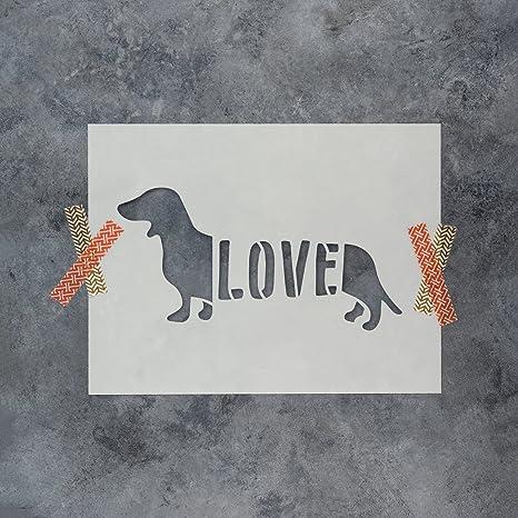 """Sten Source Quilt Stencils By Laura Estes-dachshund 7/""""x4/"""""""
