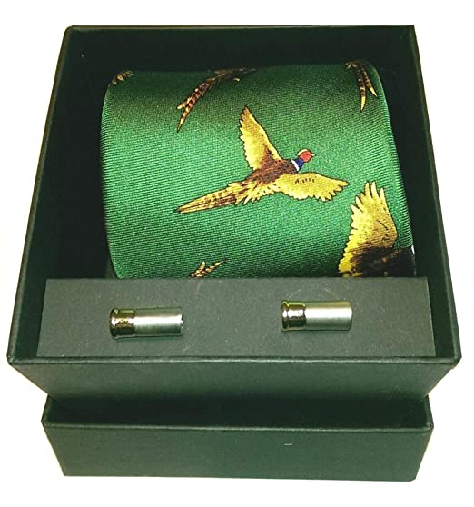 Pheasant Tie Game Shooting Hanky /& Cufflinks Gift Set by Jack Pyke Hunting