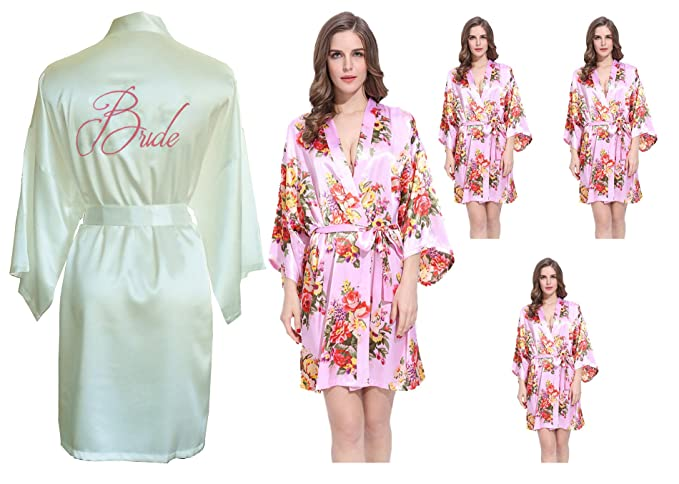 Fete Fabulous Set of 5 Hen Party Getting Ready Robes, OSFM, Wedding ...
