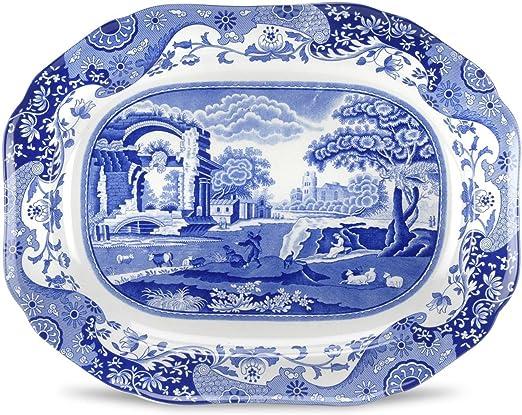 Amazon.com: Spode Blue Italian – Bandeja ovalada: Kitchen ...