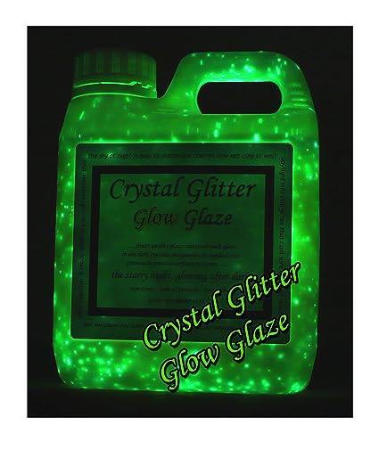 Crystal Glitter Glow Glaze, wall paint, glow in the dark starry night 3D  effect, 1 Litre