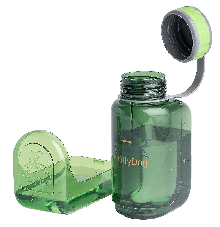 OllyDog Grass OllyBottle Water Bottle, 600ml