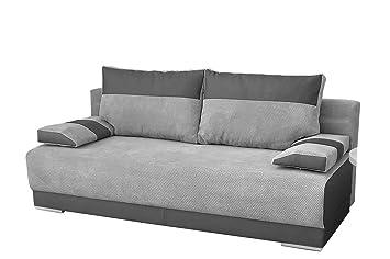 Mb Moebel Couch Mit Schlaffunktion Und Bettkasten Sofa Schlafsofa