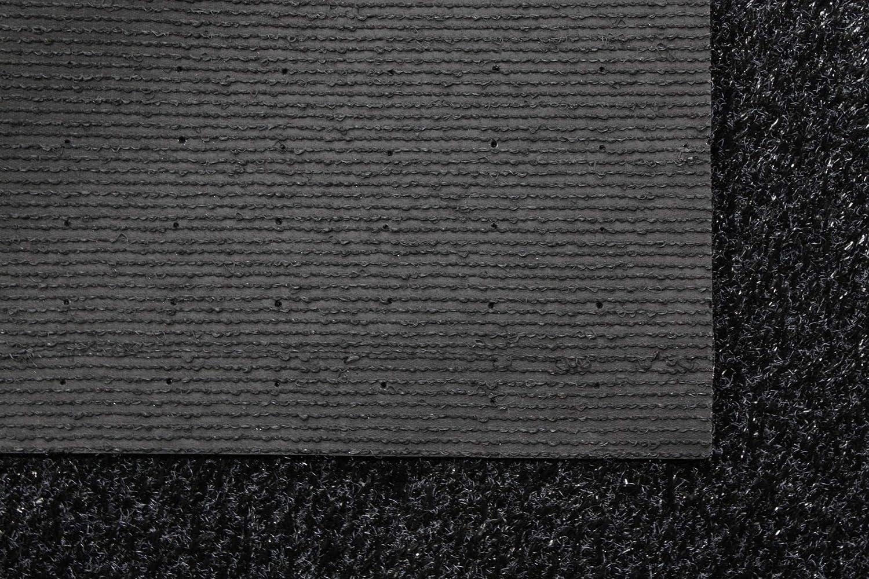 verschiedene Gr/ö/ßen hohe UV-Best/ändigkeit wasserdurchl/ässig 200x100 cm Kunstrasen Rasenteppich Tuftrasen 15mm schwarz Meterware