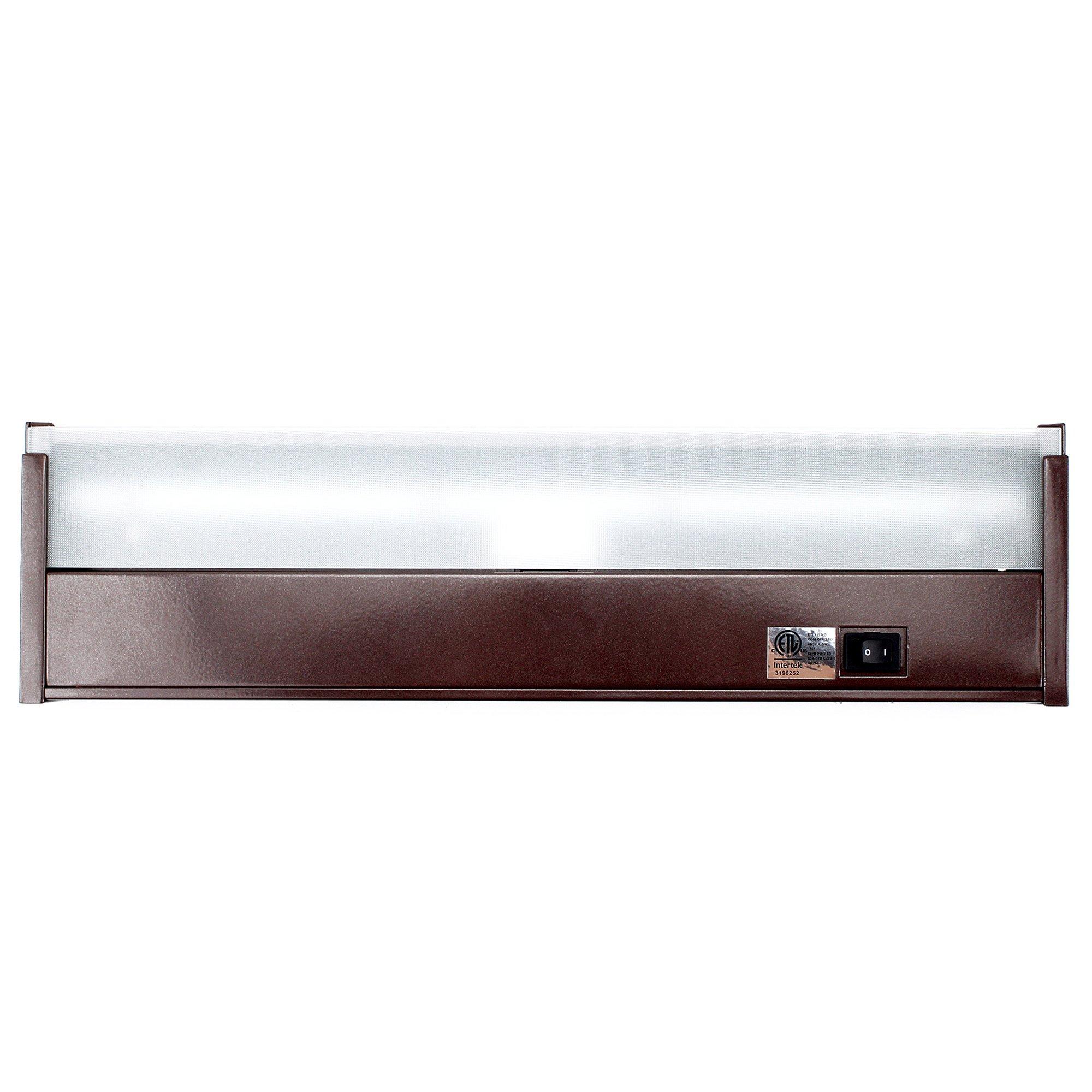 GM Lighting UCLED-16-BZ-DIM 120V LED Undercabinet Lighting, LumenTask LED Lighting, Quality LED's, 3000K, 16'', Bronze