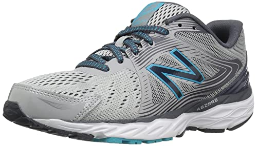 4d20733341af New Balance Women s W680v4 Running Shoe Steel Thunder Ozone Blue Glow ...