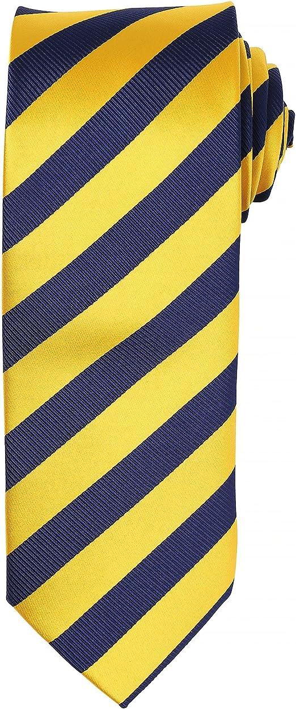 Premier Mens Woven Yellow Stripe Handkerchief