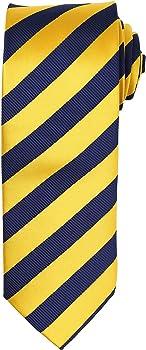 Premier - Corbata formal a rayas para hombre (Talla Única/Azul ...