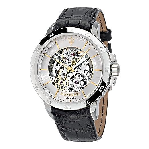 Maserati Reloj Analógico Automático para Hombre con Correa de Cuero - R8821119002: Amazon.es: Relojes