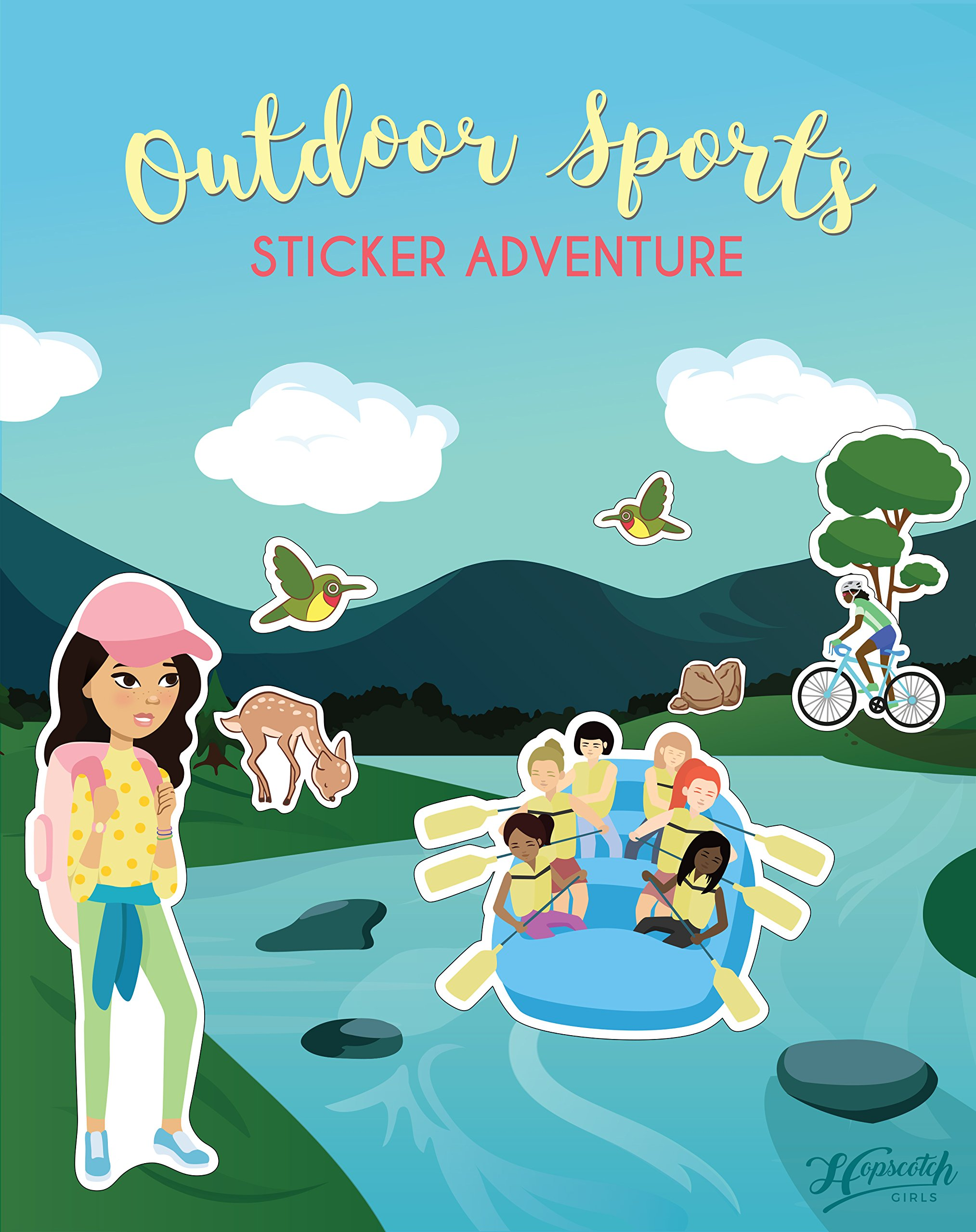 Confidence-Building Sticker Book for Girls Ages 4-8 - Outdoor Sports Sticker Adventure by Hopscotch Girls (Image #1)