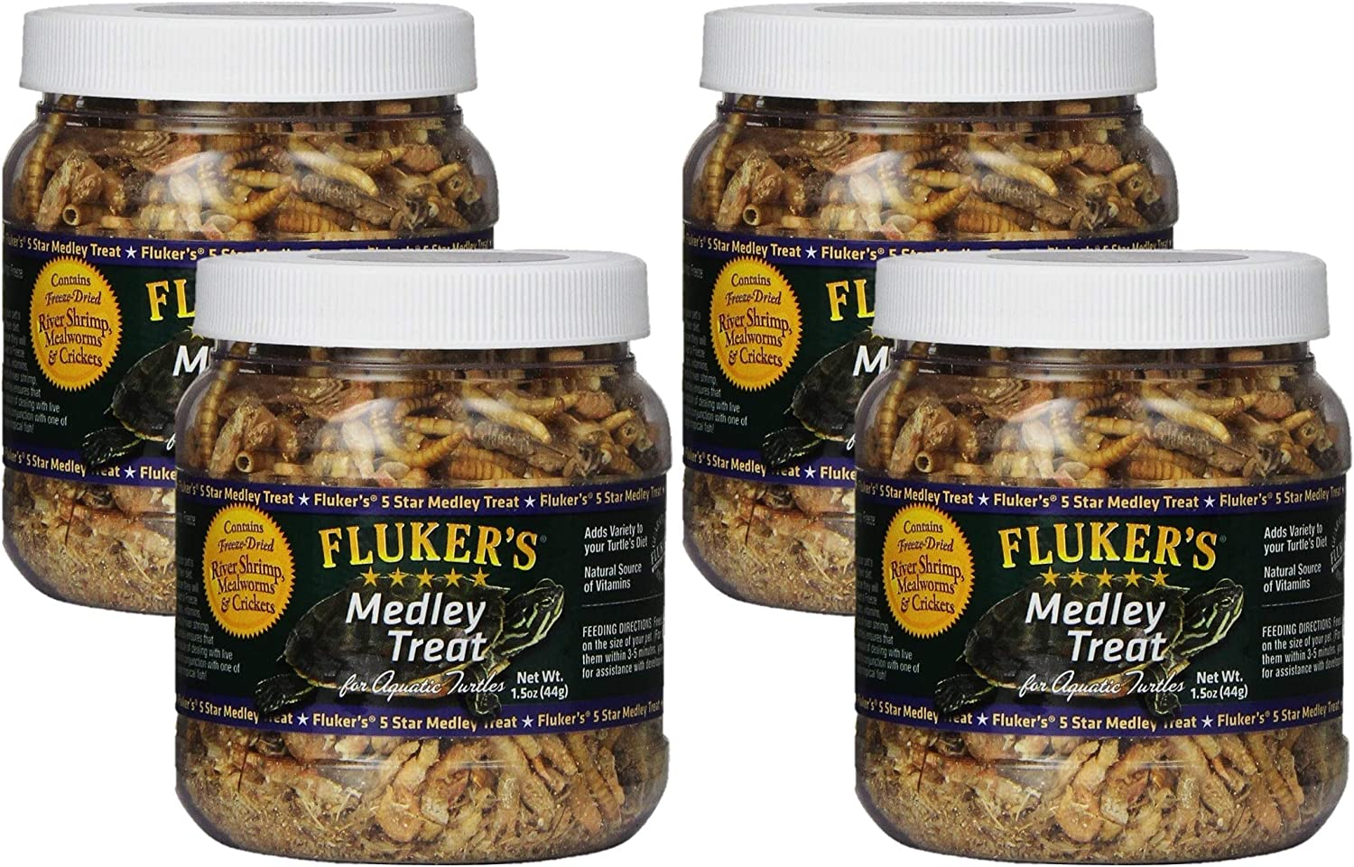 Fluker Labs SFK72020 Aquatic Turtle Medley Treat Food, 1.5-Ounce (Pack of 4)