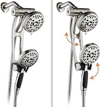 AquaSpa High Pressure Shower Combo w// Adjustable Extension Arm Oil Rubbed Bronze
