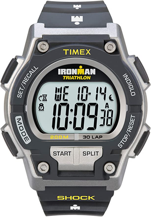 Timex T5K1959J - Reloj digital con correa de resina para hombre, color gris/negro: Timex: Amazon.es: Relojes