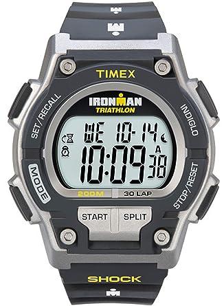meilleure sélection ea402 3532d Timex - Homme - T5K195 - Ironman Endure Shock 30 LAP - Montre Sport  antichoc - Bleu - Bleu - Résine