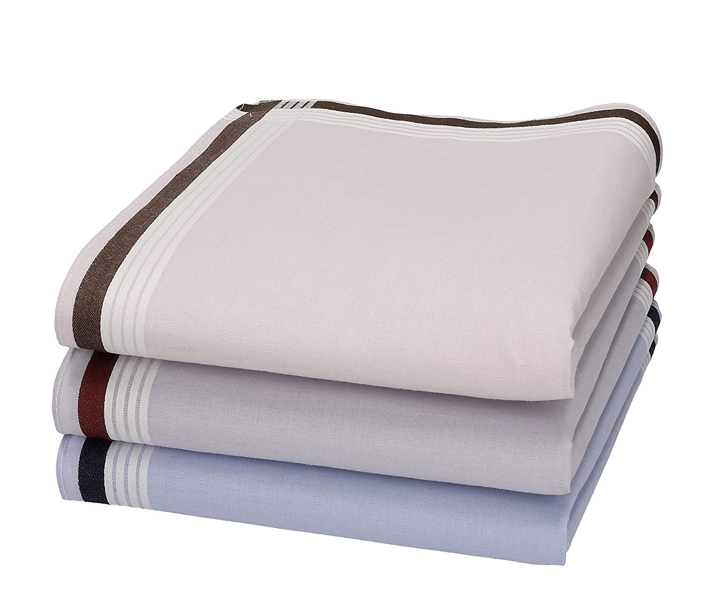 Betz Set de 3 pañuelos para hombres 100% algodon en caja regalo ...