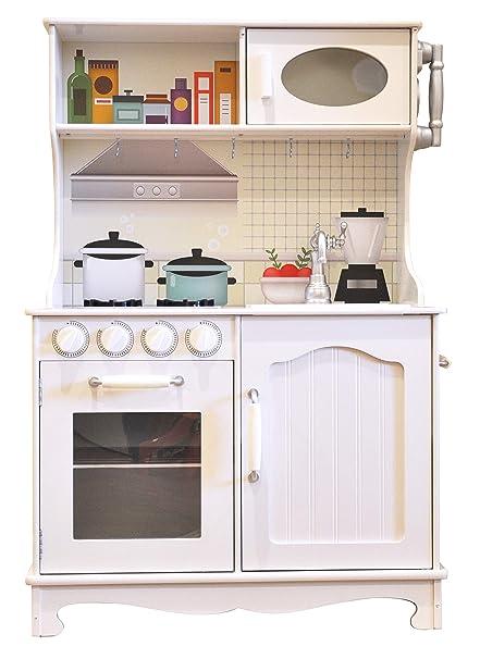 Amazon.com: Rainbow Sophia Vintage Wood Kids Play Kitchen ...