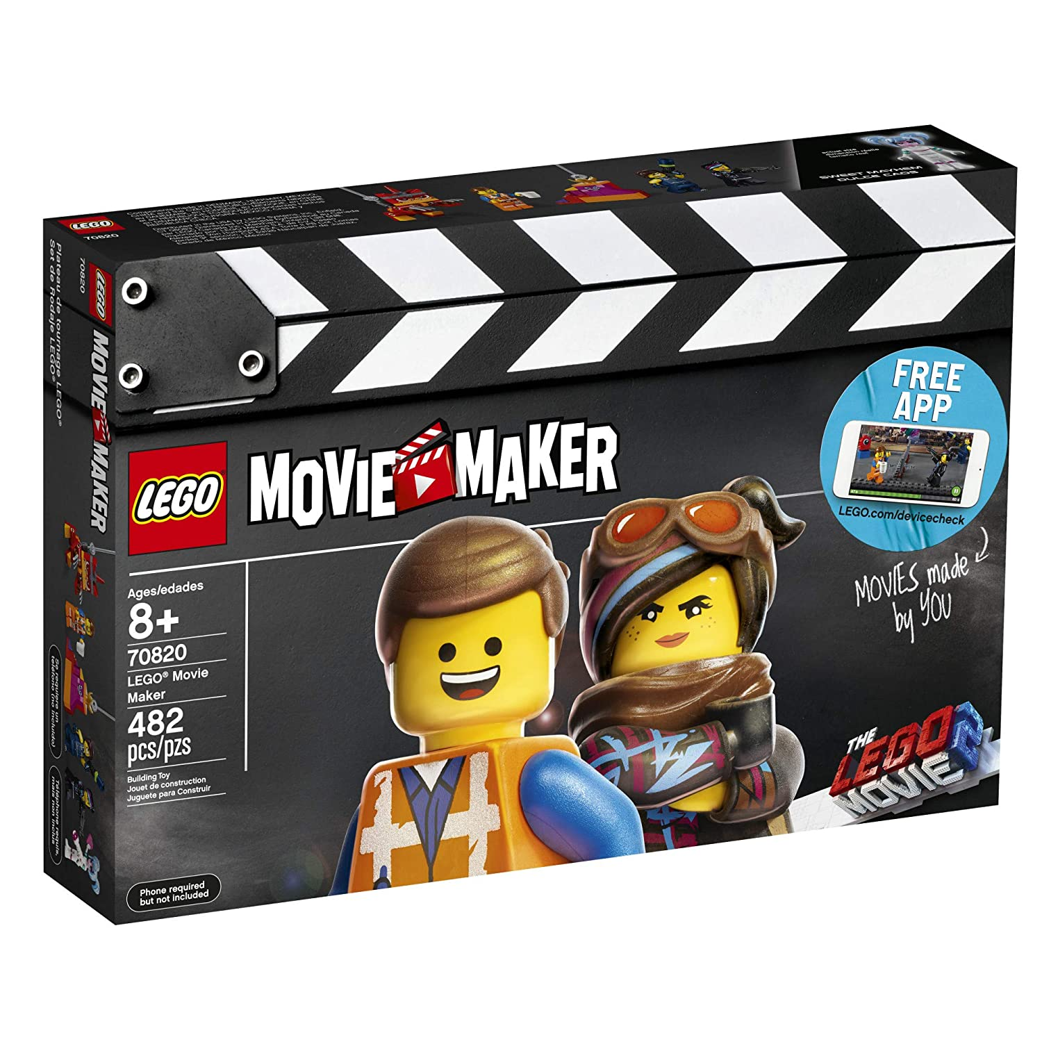 Amazoncom Lego The Lego Movie 2 Movie Maker 70820 Building Kit For