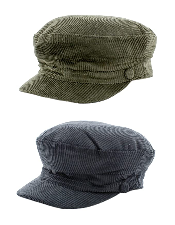 d7ce3bb5313 The Hat Company Lennon Cord Mariner Breton Cap  Amazon.co.uk  Clothing