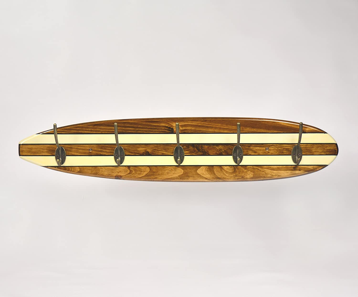 05 Art Deco. Perchero Tabla Longboard Retro Brillo: Amazon ...