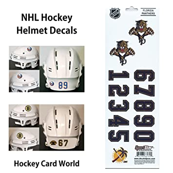 Florida panthers old logo sportsstar nhl hockey helmet decals sticker sheet