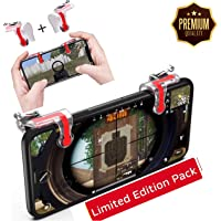 MoohMaya™ Ultra Quality ●L1 R1 Dual Gamepad ●Trigger with Fire Shooter Controller Button ●Aim Key Mobile Gaming Joystick for ●PUBG/Knives Out/Rules of Survival (All Smartphones)
