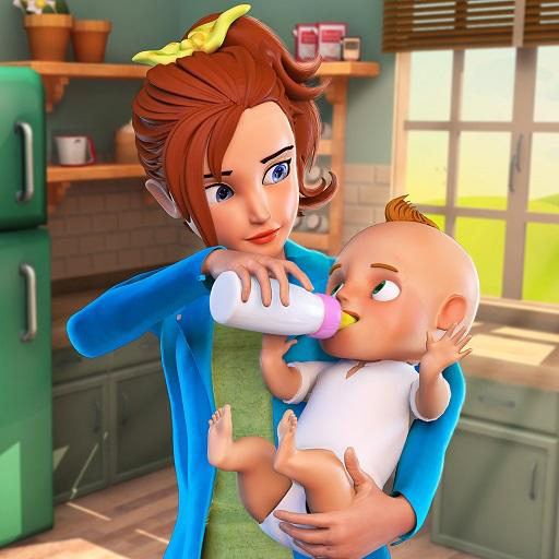 (Virtual Babysitter Life Happy Family Mom Simulator 3D: Mother Baby Daycare Adventure Games For Girls For Free)