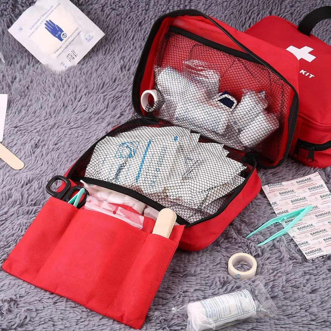 Formulaone Botiquí n de Primeros Auxilios al Aire Libre Inicio Kit de Emergencia mé dica Bolsillo vací o de Supervivencia Bolsa de Mano mé dica Multifuncional para Acampar Viajes