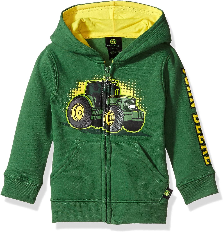 John Deere Tractor Toddler Boy Zip Front Poly Hoody Sweatshirt