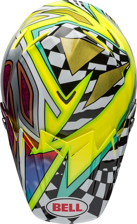 Bell Moto-9 Flex Dirt Helmet Tagger Mayhem Gloss Green/Black/White ...