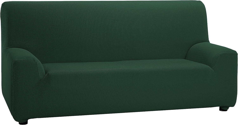 Martina Home Tunez - Funda elástica para sofá, Verde Botella, 2 Plazas (120-190 cm)