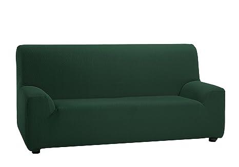 Martina Home Tunez - Funda elástica para sofá, Verde Botella, 1 Plaza (70-110 cm)