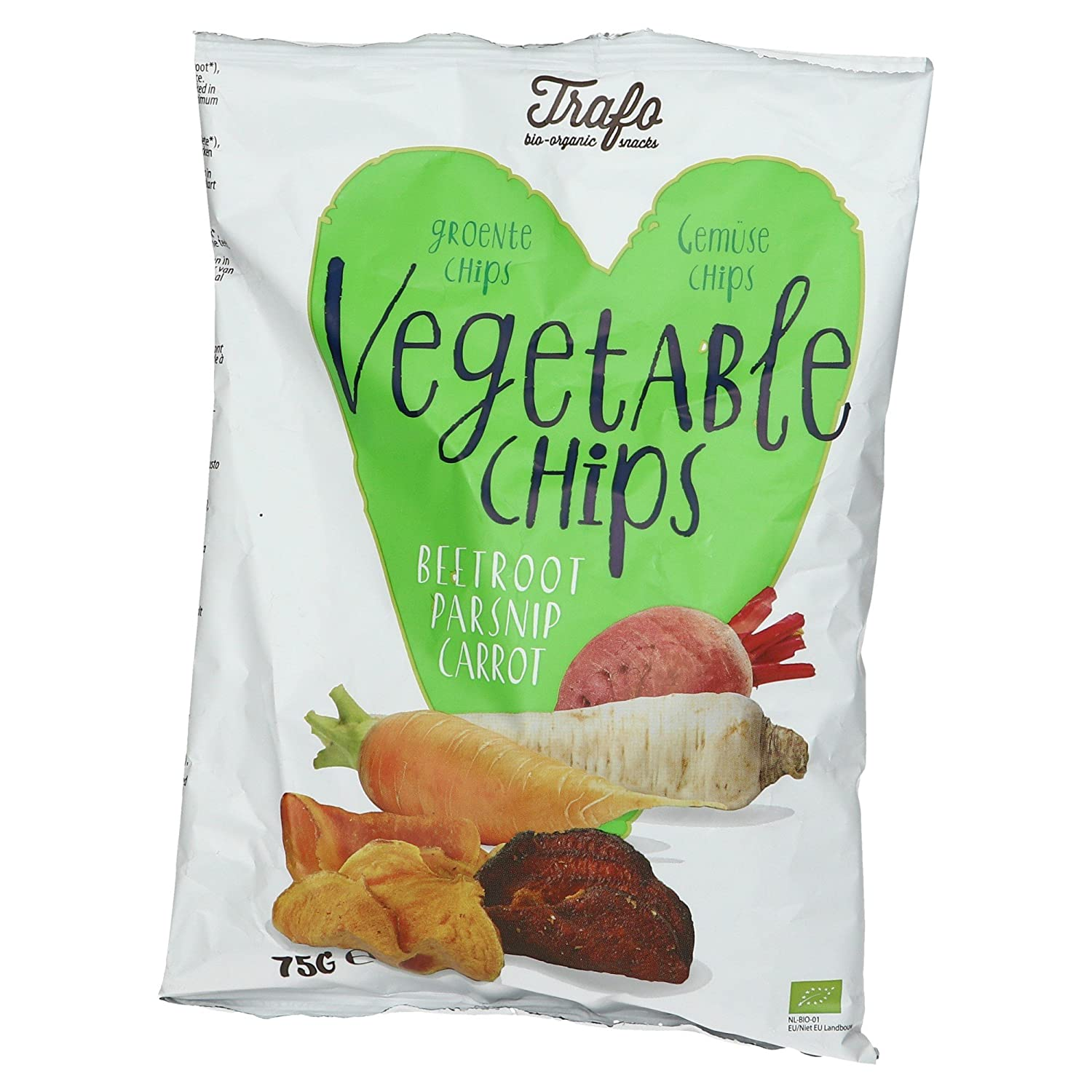 Amazon.com : Trafo Organic Vegetable Crisps 75g (Pack of 12) : Grocery & Gourmet Food