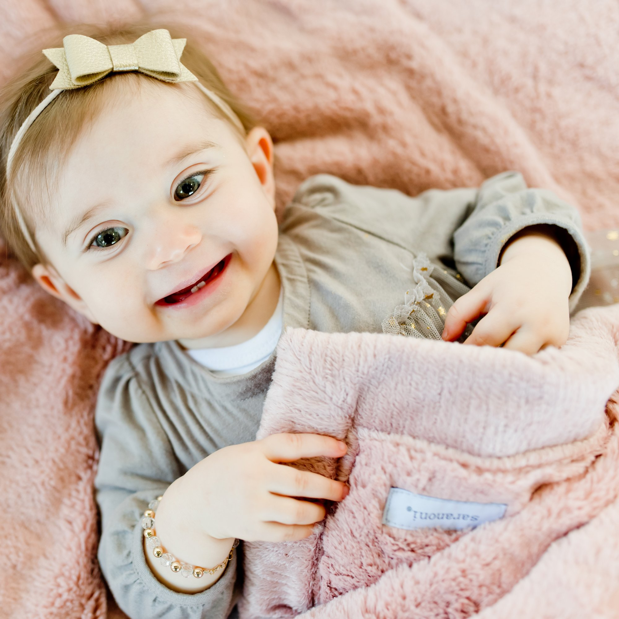 Saranoni Security Blankets for Babies Super Soft Boutique Quality Lush Luxury Baby Blanket (Mini 15'' x 20'', Ballet Slipper Pink)