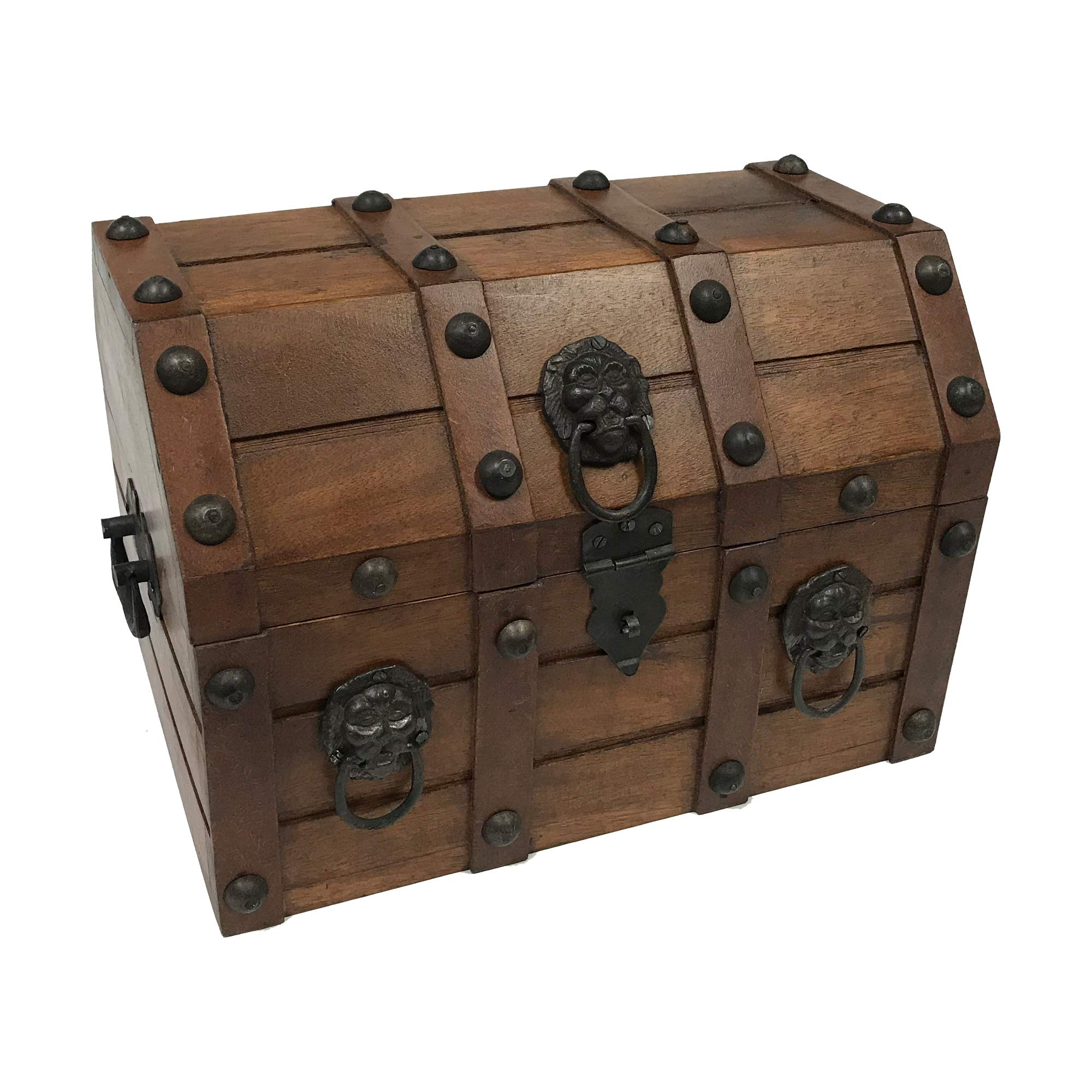 Authentic Pirate Loot Chest Antique Reproduction in Mango & Teak Wood by Schooner Bay Co.